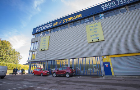 Access Self Storage Basingstoke - car park