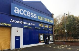 Our self storage facility in Birmingham Central