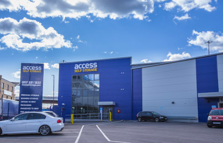 Our self storage facility in Bristol.