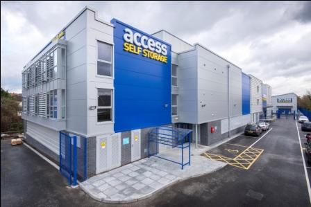 Our self storage facility in Cheam.
