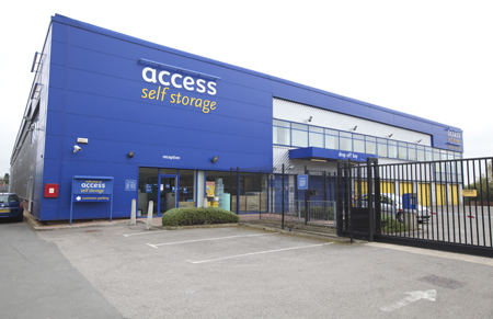 Our self storage facility in Cricklewood
