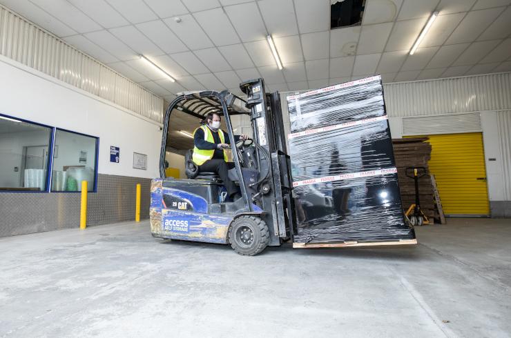 Access Self Storage Edmonton - fork lift truck