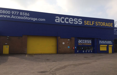 Our self storage facility in Birmingham Erdington