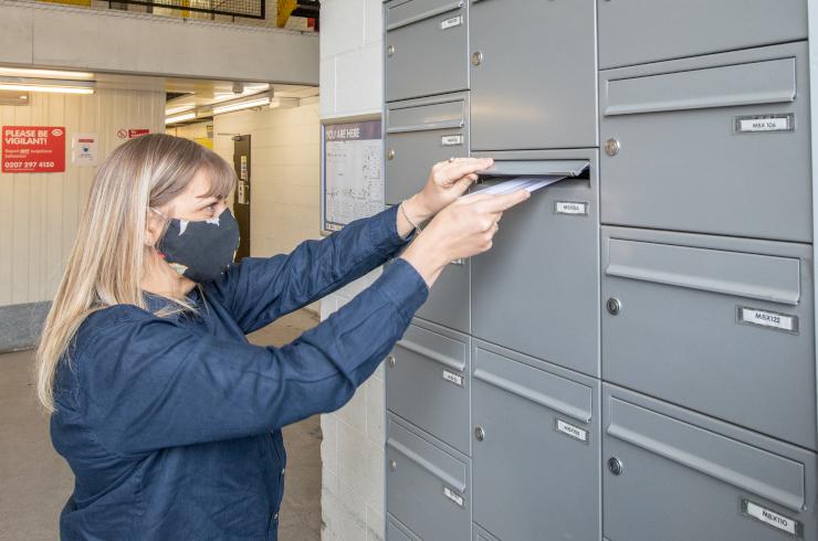 Access Self Storage Hanwell - mailbox mask