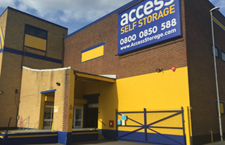 Our self storage facility in Portsmouth.