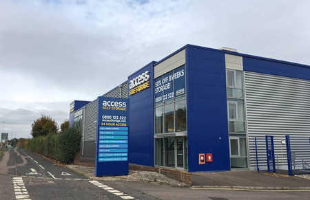 Our self storage facility in Stevenage