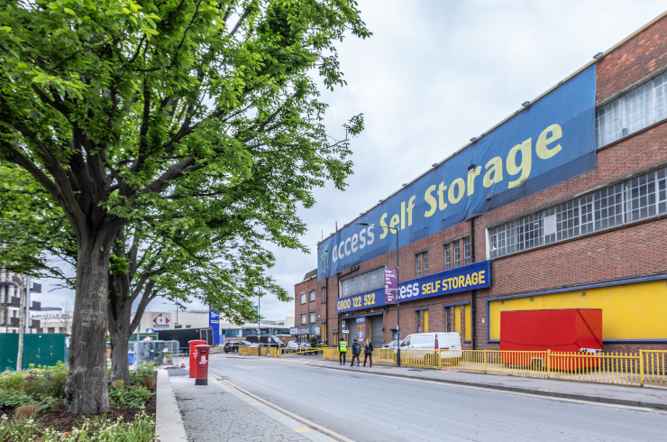 Our self storage facility in Wembley.