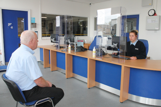 store reception desk coronavirus protection