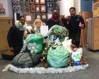Christmas sacks full of presents