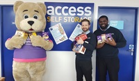 charity & staff with Easter eggs