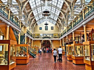 Inside of Birmingham Museum and Art Gallery