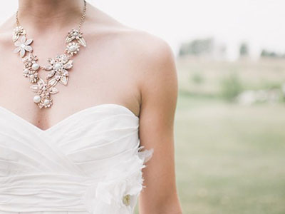 Wedding dress and a necklace