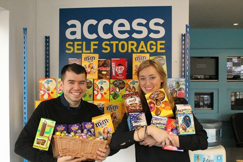 Access people with Easter egg collection