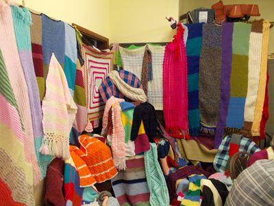 Nepalese knitting on display