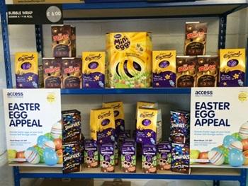 Easter Egg Appeal - eggs on display shelf