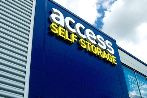 Access Self Storage sign