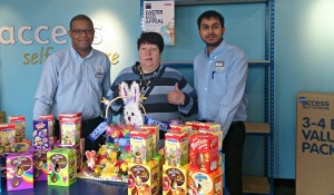 Access Easter charity appeal Easter egg donations