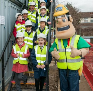 lucky schoolchildren having a sneak preview of our 'under construction' new site