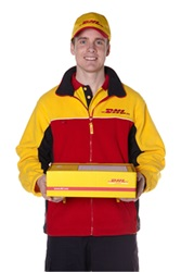 DHL delivery person