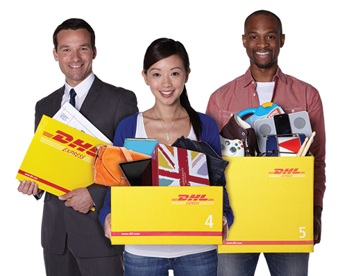 customers with DHL packaging
