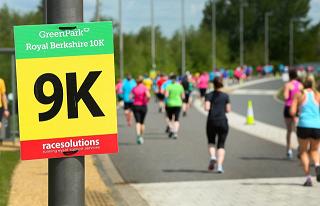 9K charity run sign