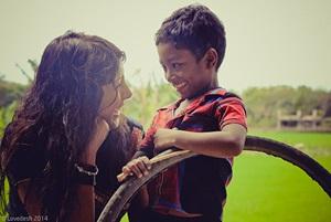 Yasmin Choudhury and son