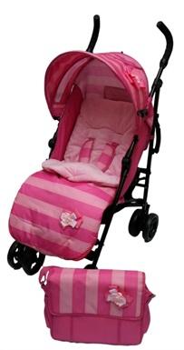 Pink baby pushchair