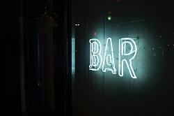 neon sign - bar
