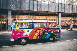 colourful VW Van