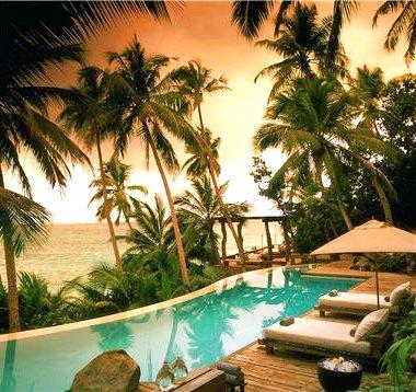 tropical infinity swimming pool