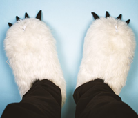 heated fluffy slippers