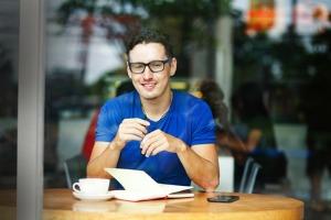 young male entrepreneur at desk