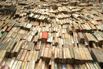 Hundreds of old books