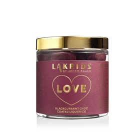 Sous Chef's Lakrids LOVE raspberry and blackcurrant choc covered liquorice