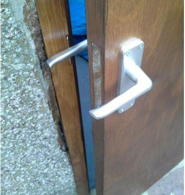 door handles wrong way round