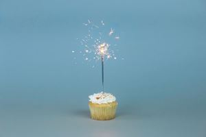 cup cake with sparkler