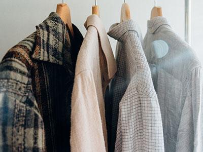 four assorted-colour shirt options