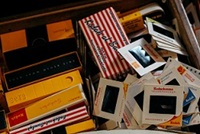 35mm slides and old video tapes