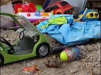children's toys cluttering floor