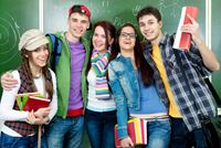 Happy students