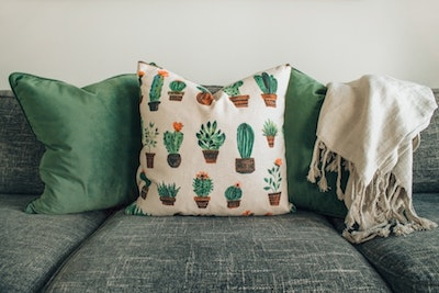 Decorating a rental home cushions