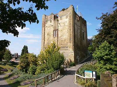 Guildford Castle in a sunny day