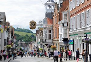 Places to visit in Guildford - the city centre