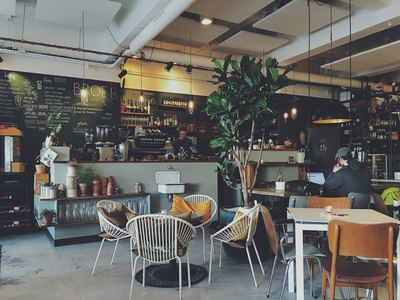 Coffee, found in eco-friendly restaurants in London