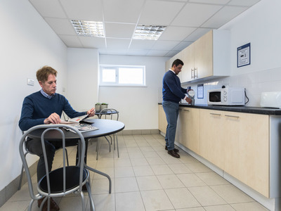 The kitchen facilities at Access' Basingstoke office space