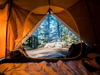 Image of tent camping organisation ideas