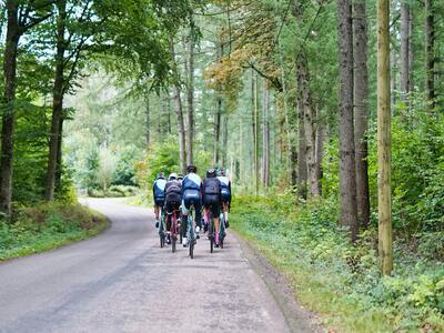 Image of a group of cyclists on route in South East London