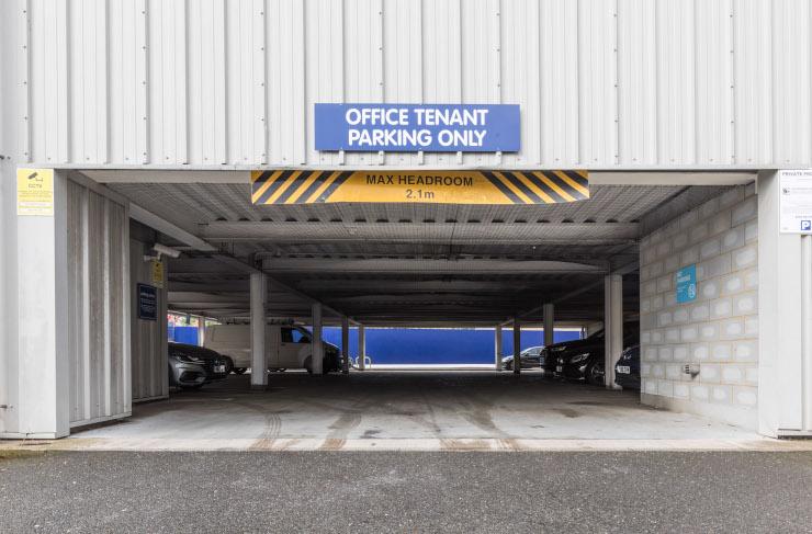 Access Offices - Clapham Acre Lane car park entrance