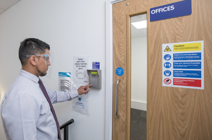 Access Offices Guildford - entrance door