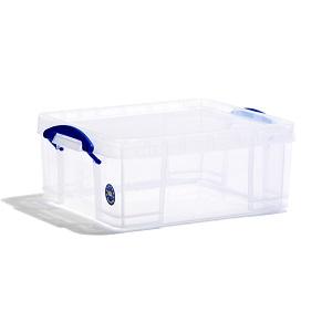 Transparent plastic box - 18 litres